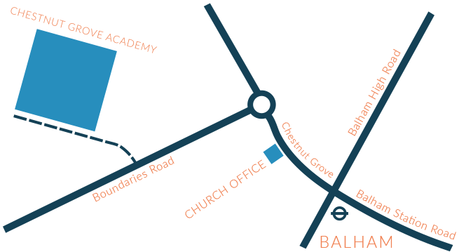 Map of Church in Balham